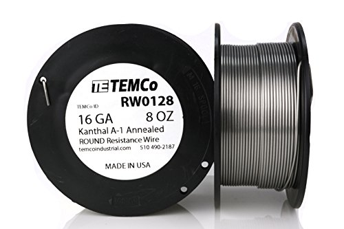 TEMCo Kanthal A1 wire 16 Gauge 8 oz (79 ft) Resistance AWG A-1 ga