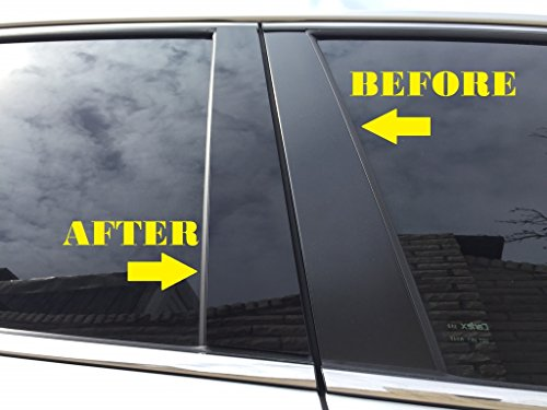 1998-2011 Lincoln Town Car Piano Glossy Black Pillar Posts Trim 6PCS (Pillars Lincoln Town Car)