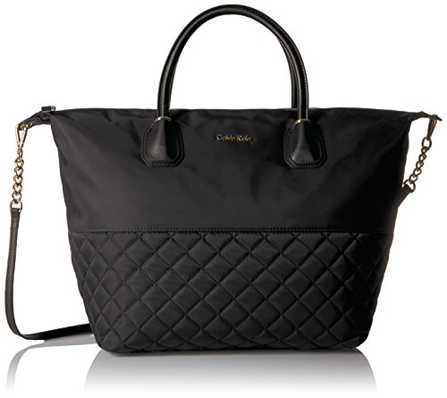 Calvin Klein Florence Quilted Nylon Small Top Zip Tote by Calvin Klein