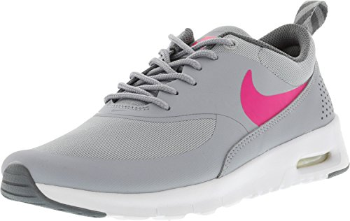 Nike Girl's Air Max Thea Wolf GreyHyper Pink Cool Ankle High Running Shoe 7M