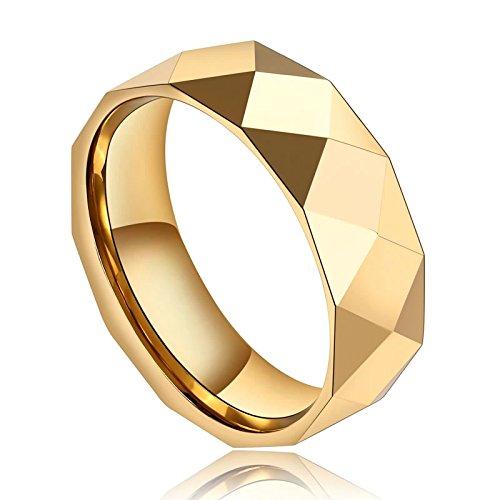 517343dc6ac0 AnaZoz Anillo Triangular Rombo Anillo Oro Hombre Anillo Acero Inoxidable  Oro Anillo de Hombre Oro Talla