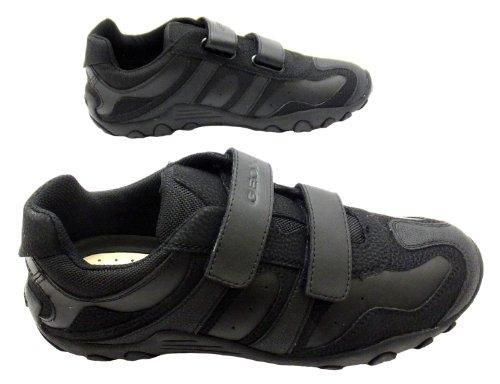 Geox  J Crush M, Chaussures de ville à lacets pour garçon Noir noir