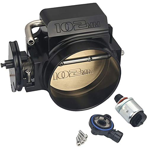 Kyostar 102mm Black Throttle Body + TPS IAC Throttle Position Sensor For LSX LS LS1 LS2 -