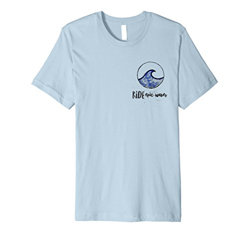 Mens Ride Epic Waves Surf Boards Surfing T-Shirt For Surfers XL Baby - Ride Shop Epic