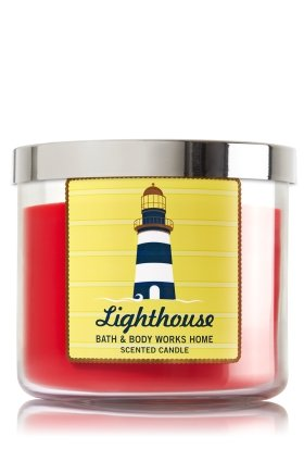 Lighthouses Bath (Bath & Body Works Lighthouse scented candle 3 wick 14.5 oz)