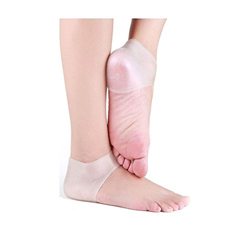 Pinkiou Heel Protector sleeve unisex Silicone moisturizing heel sock cracked Skin pain relieve pedicure Cracked Heel Pain