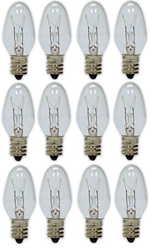 GE Lighting 4-Watt Night Light, Clear C7 2CD, 12-Bulbs