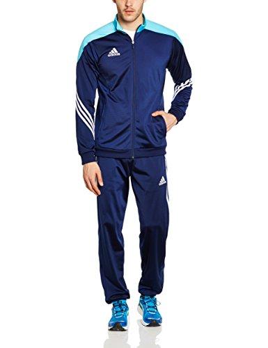 adidas Fußball bekleidung Sere14 Präsentations Trainingsanzug, dunkel blau/super cyan s12/weiß, XXL, F49713
