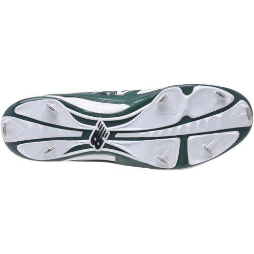 New Balance Hommes 4040v2 Mi Métal Baseball Taquets Blanc / Vert
