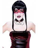 Chelsea Widow Peak Black Adult Costume Wig
