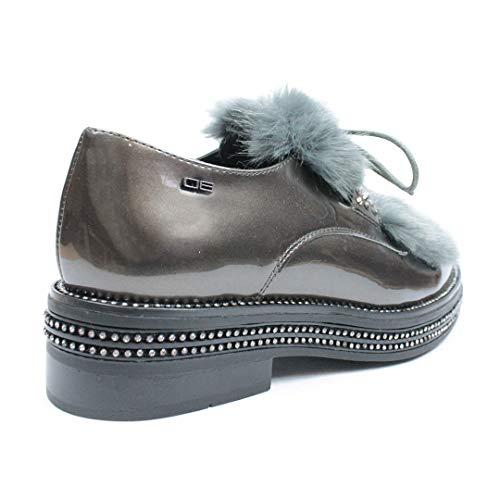 Gris Chaussures P Femme de OAL0060 Ville pour MILANO à 06 1 Lacets SqZPRfS