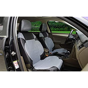 Prime Amazon Com 116001 Black Fabric 2 Front Car Seat Covers For Ibusinesslaw Wood Chair Design Ideas Ibusinesslaworg