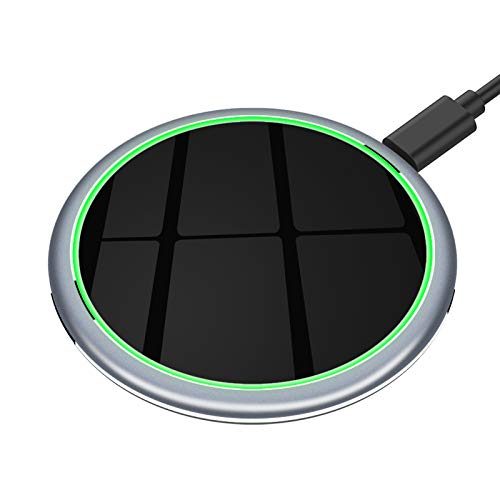 Yootech 7.5W/10W/15W Metal Wireless Charger,15W Max Wireless Charging Pad Compatible with iPhone 12/12 Mini/12 Pro Max/SE 2020/11 Pro Max,Galaxy S20/S10,Pixel 3/4XL, AirPods Pro (No AC Adapter)