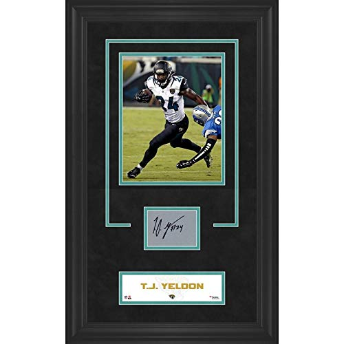 (Tj Yeldon Jacksonville Jaguars FAN Authentic Framed 8x10 Photograph With Autographed Signed Card - Certified Signature)