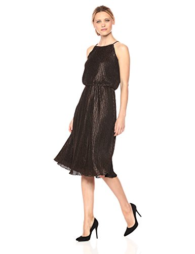Julia Jordan Women's Blouson Midi Metallic Jacquard, Copper, 16 by Julia Jordan