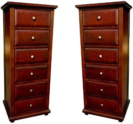 D-Art Java Chest 6 Drawers Set of 2 pc