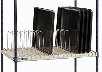 Nexel Tray Drying/Storage Rack, Clear Epoxy Finish, 24