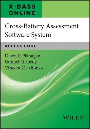 Cross-Battery Assessment Software System (X-BASS) Online