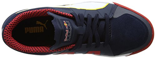 Puma Unisex-Erwachsene RBR Rider Low-Top, Blau (Total Eclipse White-Chinese Red 01), 44 EU