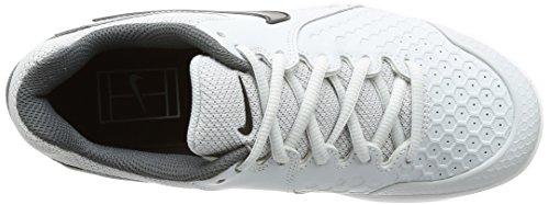 Nike Vrouwen Air Zoom Weerstand Tennisschoenen. Platinum / Zwart / Donkergrijs
