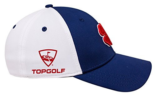 Black Clover Premium Fitted Hat with Top Golf Logo (Red Navy White ... 5905a3092331