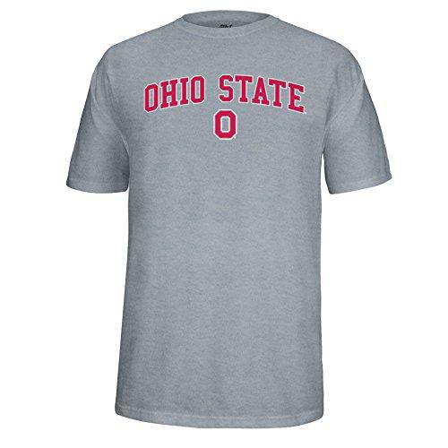 NCAA Adult Ohio State Buckeyes Arch Block O Choice Tee, X-Large, Oxford