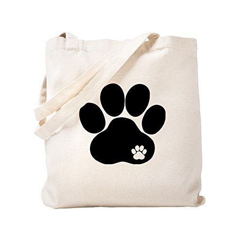 (CafePress - Double Paw - Natural Canvas Tote Bag, Cloth Shopping Bag)
