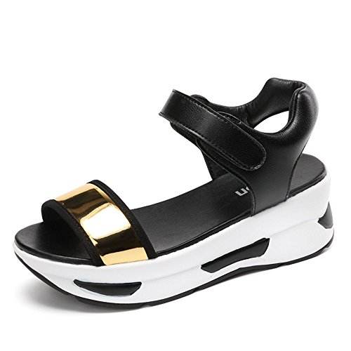 Wedge SUNNY for Exercise Athletic Walking Store Peep Black3 Sandals Women Platform Outdoor Shoes Low Toe grrXRwq0