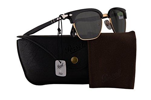 Edition Polarized Sunglasses - Persol PO3199S Tailoring Edition Sunglasses Black w/Polarized Green Lens 50mm 9558 PO 3199-S PO3199-S PO 3199S