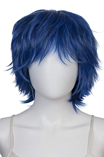EpicCosplay Apollo Shaggy Wig for Spiking (Shadow Blue) 33DBL2]()