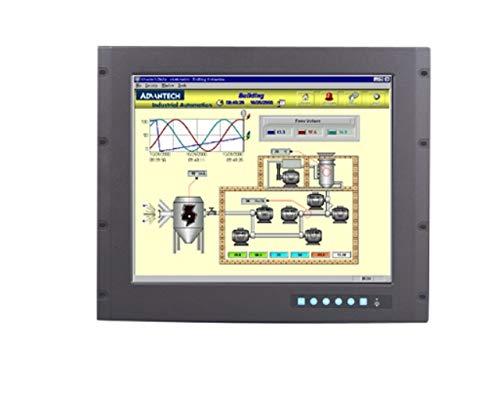 (DMC Taiwan) 9U Rackmount 19 inches SXGA Industrial Monitor with Resistive Touchscreen, Direct-VGA and DVI Ports 19' Rackmount Lcd Panel Monitor