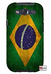 Distressed Brazilian Brazil National Flag Unique Quality Soft Rubber TPU Case for Samsung Galaxy S3 SIII i9300 - White Case wangjiang maoyi