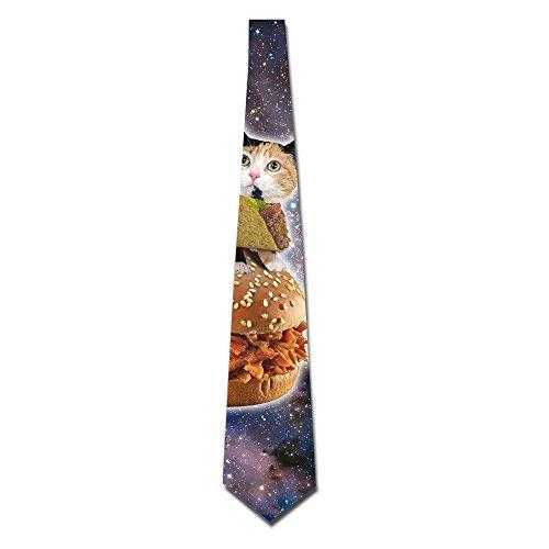 Taco Cat Space Men's Tie Fashion Neckties Necktie Neckwear Neckcloth Choker Neck 8CM