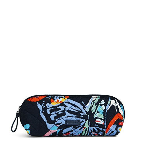 Vera Bradley Iconic Brush & Pencil Case, Signature Cotton, Butterfly Flutter
