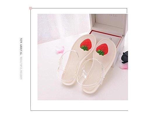 Donyyyy Casual Schuhe, Sandalen, Frauen mit Flachem Boden Frauen Schuhe, Hausschuhe  All black lemon|Thirty-six
