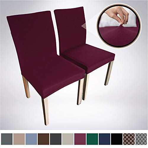 Gorilla Grip Original Velvet Fitted 1 Piece Dining Chair Slipcover, Seat Width to 21.5 Inches, Stretchy Soft Velvety Slip Cover, Spandex Chairs Furniture Protector, Protect from Food, Kids, Wine