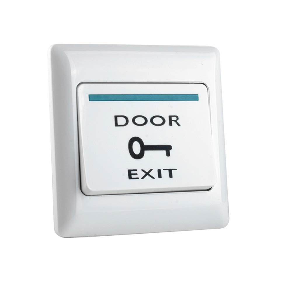 uoweky Interruptor de Emergencia de Liberaci/ón de Bot/ón de Salida de la Puerta de Pl/ástico ABS Ign/ífugo para el Sistema de Control de Acceso de Entrada de Puerta para Todos los Seguros El/éctricos E6