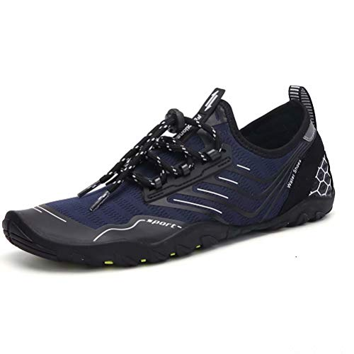 Water Sport Shoes Womens Mens Quick-Dry Barefoot Aqua Socks Shoes for Pool Swim Surf Walking Running Outdoor Beach Yoga ()