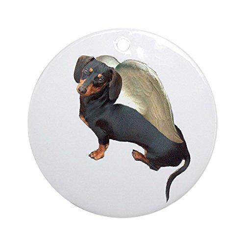 Dachshund Angel Dog Ornament (CafePress - Lily Angel Dachshund Dog Ornament (Round) - Round Holiday Christmas Ornament)