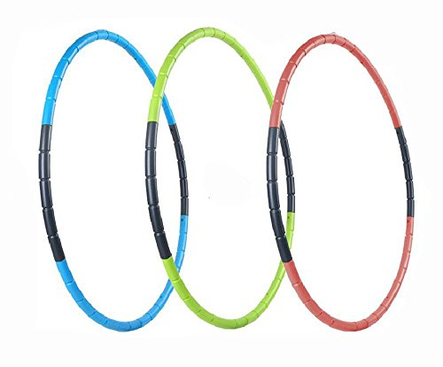 Hula Hoop for Fitness, 8-segmented, Workout for Students and Kids, Exercise, Weight Loss and Perfect Body, 70CM (27.6 inch) (Red)