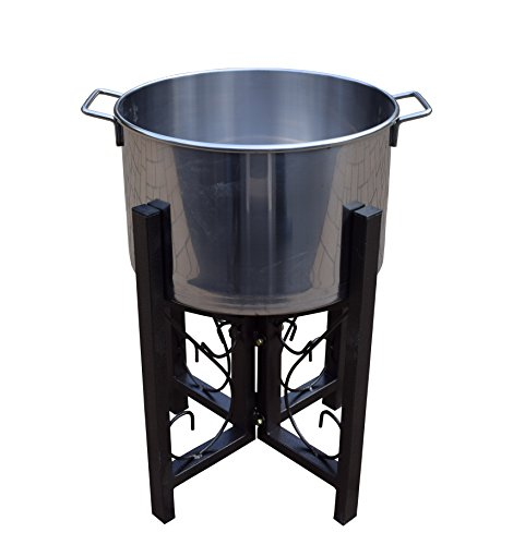 Oakland 91002-BK Stainless Steel Ice Bucket and Stand, 14...