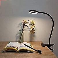 Lypumso - Lámparas con pinza LED de escritorio con clip de protección para los ojos, 2 modos ajustables, blanco frío…