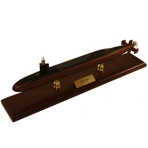 Executive Series SCMCS025 Ohio Class Submarine 1:350 Scale Mahogany Display Model on Stand