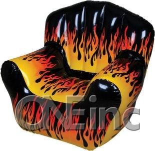 Flame Print Chair Bubble Furniture - 40