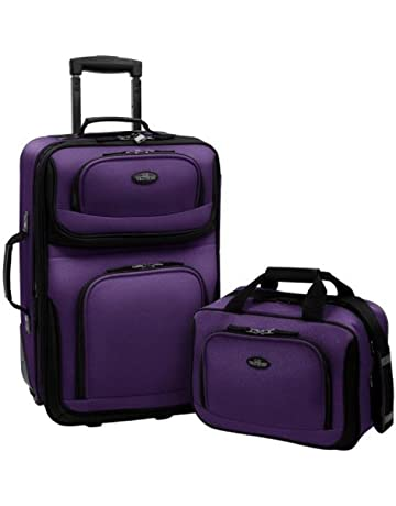 57b21e42b U.S Traveler Rio Two Piece Expandable Carry-on Luggage Set (14-Inch and