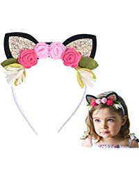 Animal Ears Floral Crown Headbands set of 1 or 3 for...