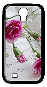 Samsung Galaxy S4 I9500 Black Hard Case - Gypsophila Galaxy S4 Cases