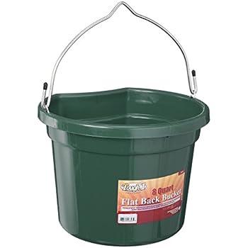 Tough 1 Flat Back Bucket, Hunter Green, 8-Quart