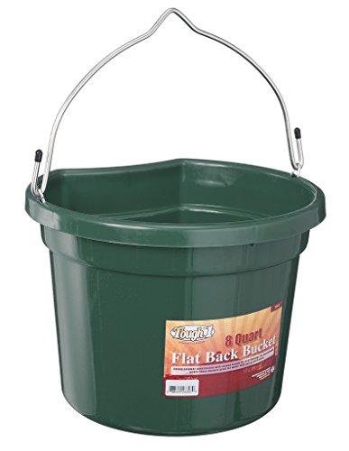 Tough 1 Flat Back Bucket, Hunter Green, 8-Quart ()