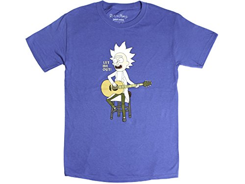 Ripple Junction Rick and Morty Let Me Out Tiny Rick Adult T-Shirt Small Royal (The One With The Tiny T Shirt)